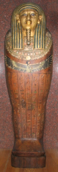 Anthropoid wooden coffin of Shepseptah, XXVI Dynasty