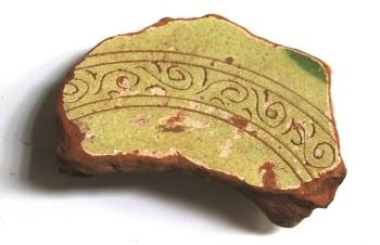 Ceramica bizantina del XII secolo (foto Mauro Librenti)